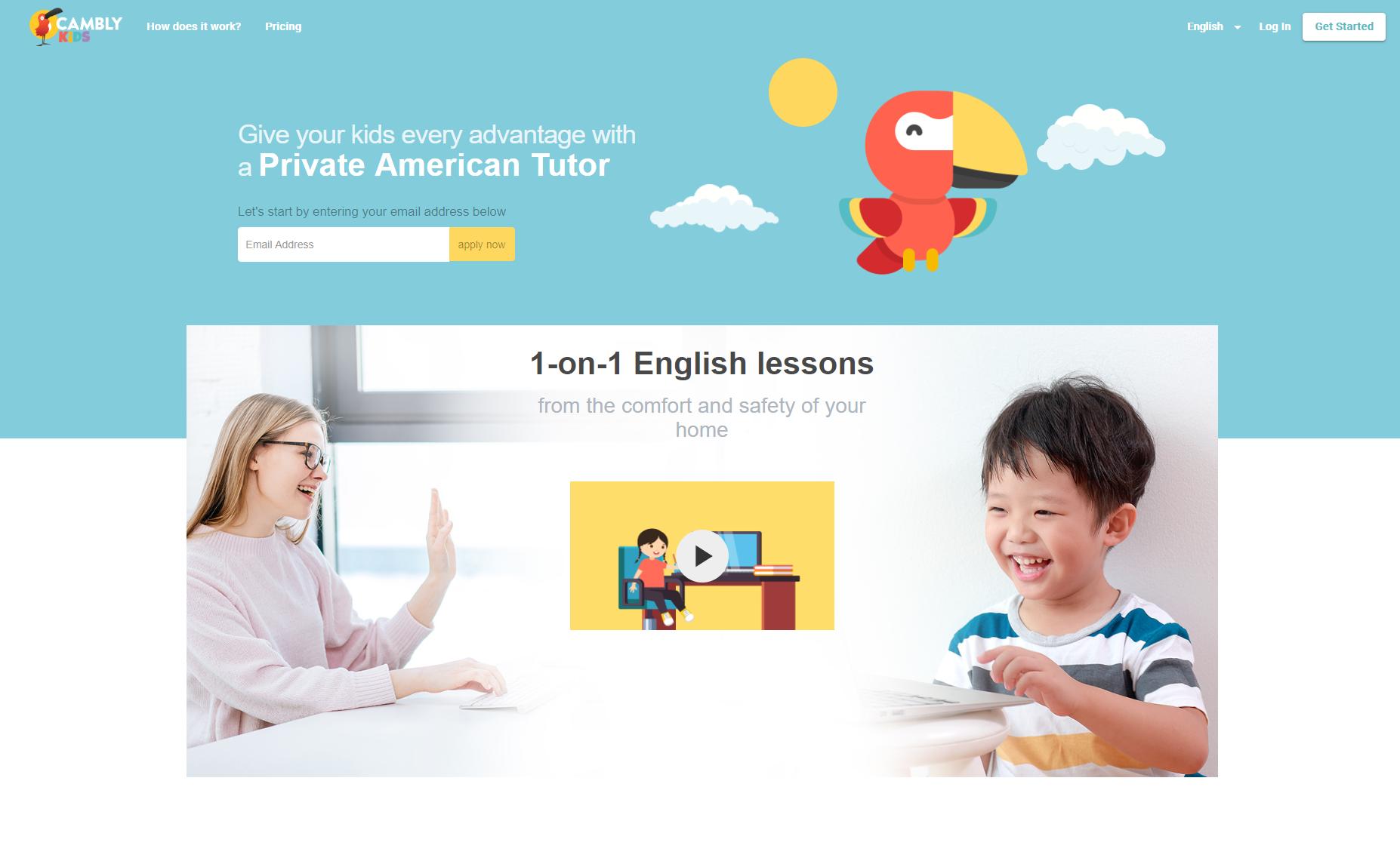 Cambly Kid - Ứng dụng dạy tiếng Anh cho trẻ em từ Mỹ